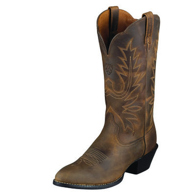 Ariat Heritage Western R Toe Distressed Brown