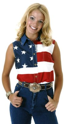 Roper American Flag Sleeveless Shirt