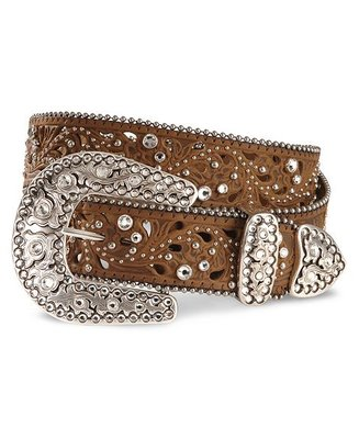 Justin Ladies Brown Leather Belt Palazzo