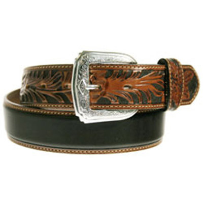 Tony Lama Two Tone Black and Brown Belt