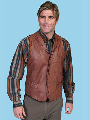 Scully Leather Vest 206-171