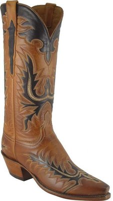 Lucchese Classic Honey Burnished Ranch Hand Mayela Cowgirl Boots