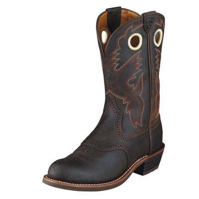 Ariat Heritage Roughstock Boot U Toe Antique Brown
