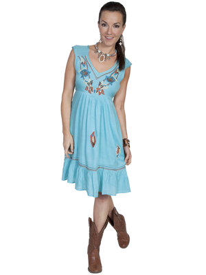 Scully Dress E121 Turquoise