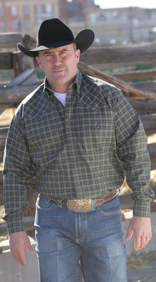 Miller Ranch Wear Green Plaid Shirt