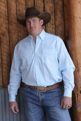 Miller Ranch Wear Blue Stripe Shirt