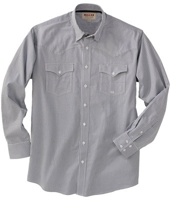 Miller Ranch Wear Navy Plaid Pinpoint(1)