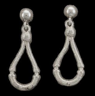 Bar-V Ranch  Earrings -Cast Silver Bosals