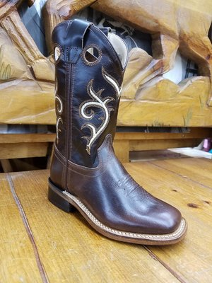 Old West Dark Brown Carona Leather