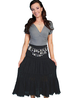 Scully Cantina Skirt PSL-124BLK