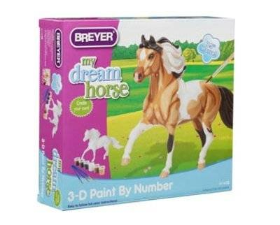 Breyer My Dream Horse - 3D Paint-by-Number Activity Kit Pinto