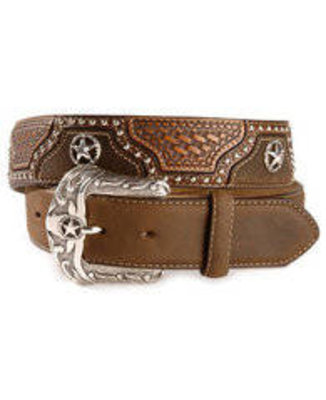 Justin Texas All Star Leather Western Belt