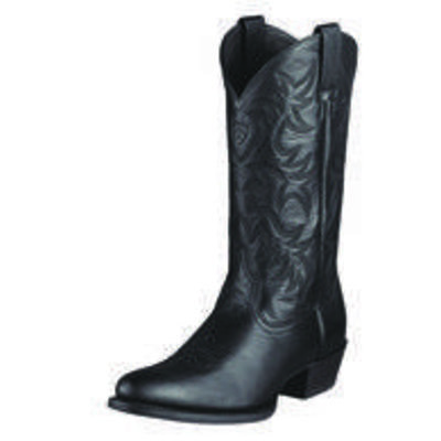 Ariat Heritage Western Boot R Toe Black 10002218