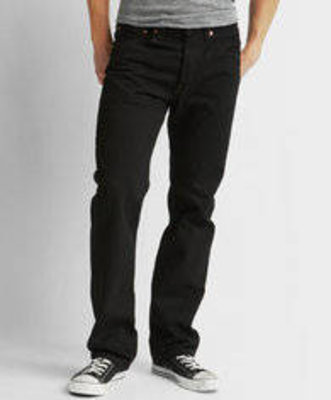 Levi 501 Prewashed Button Fly Black Jeans