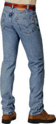 Levi 501 Prewshed Jeans Stonewashed Blue