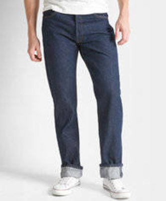 Levi 501 Shrink to Fit Indigo Blue Jeans