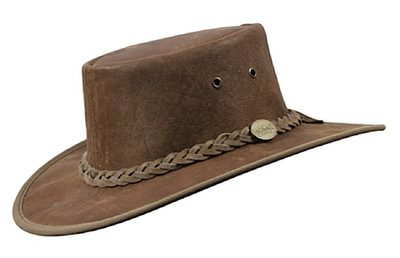 Barmah Stonewash Squashy Kangaroo Leather Hat
