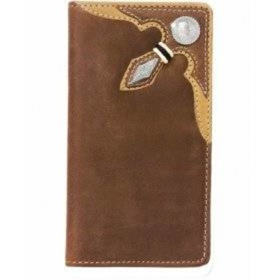 Silver Creek Stockyards Rawhide Wallet - Brown