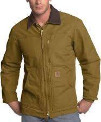 Wind Resistant, 12 oz Cotton Sandstone Duck. Coat / Sherpa Lined  Frontier Brown
