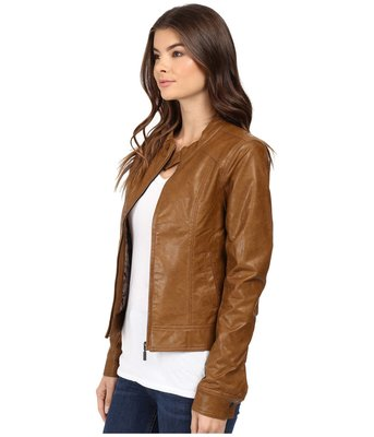 Cruel Girl Sassy Women's Brown Vegan Leather Jacket